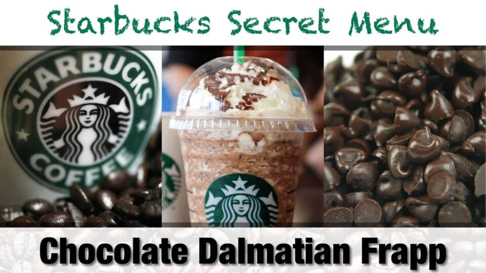 Starbucks Secret Menu Chocolate Dalmatian Frappuccino Recipe